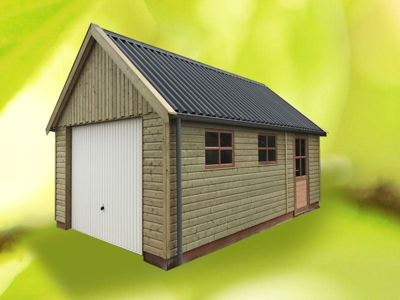 houten-garage-londen