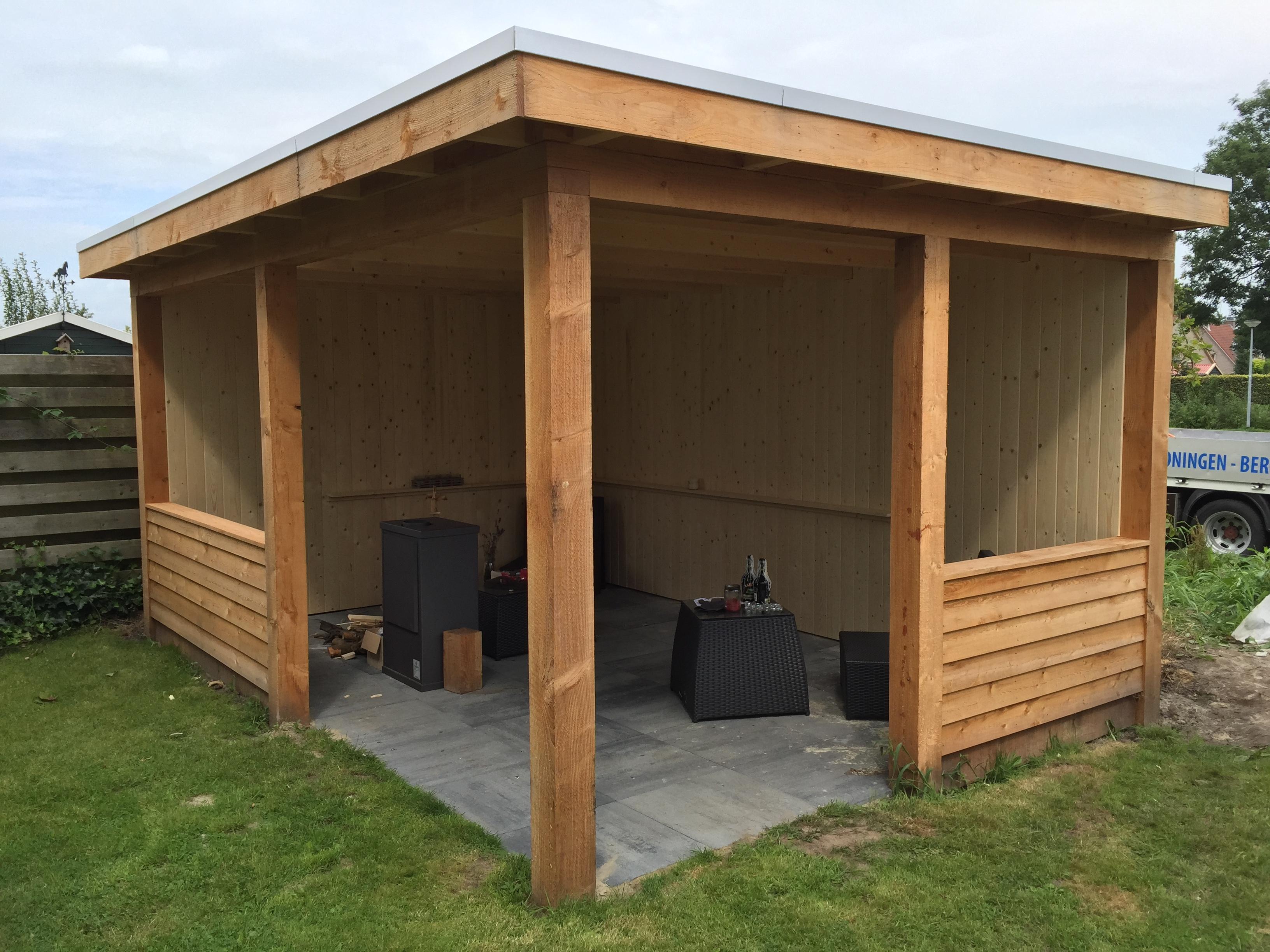 houten tuinoverkapping dag front (3)